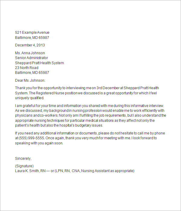 job interview thank you letter thevictorianparlorco – Thank You Letter for Interview
